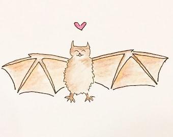 Love Bat Card