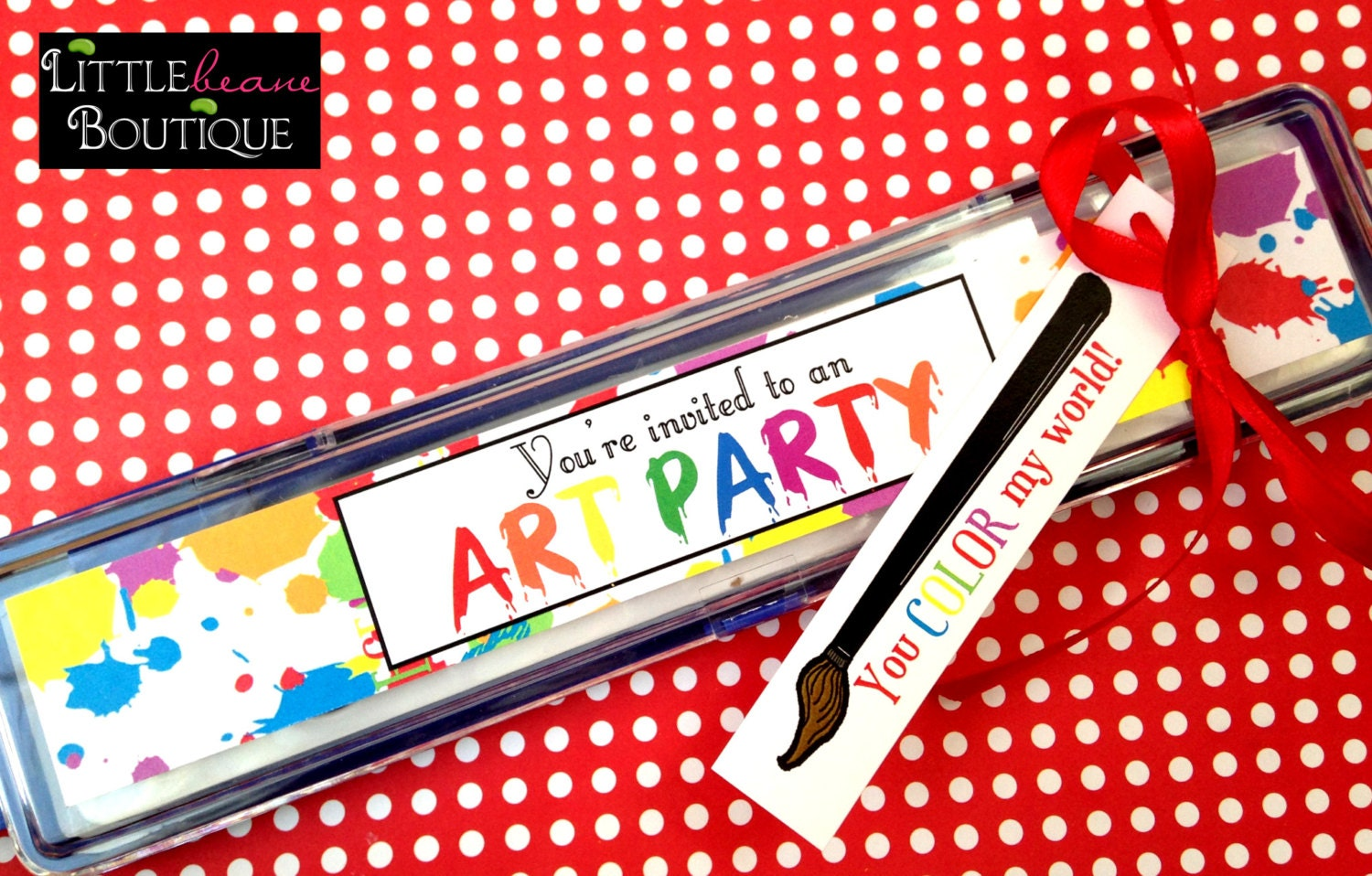 Printable paint Invitations painting party Stickers for