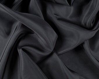 "45"" Wide 100% Silk Habotai Dark Gray-Wholesale by the Yard (2000M193)"