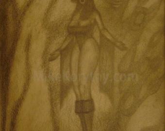 Visible Energy. Original graphite painting