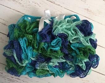 Ready to Ship Crochet Ruffle Skirt Size 1-2 year in twist