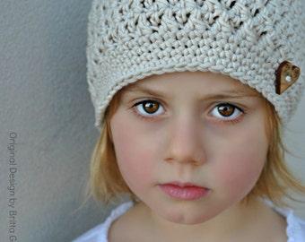 Crochet Hat Pattern - Chunky Textured Beanie Crochet Pattern No.108 FOUR sizes Baby Toddler Child Digital PDF English