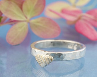 Mokume Gane red gold silver palladium collector ring