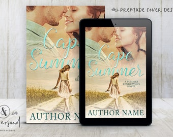 "Premade Digital eBook Book Cover Design ""Cape Summer"" Contemporary Summer Romance Comedy New Adult Fiction"