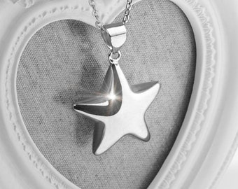 Harmony Ball STELLA Silver Bola Star Pendant & Necklace - Pregnancy Gift Idea Maternity Mexican Angel Caller Mum to Be