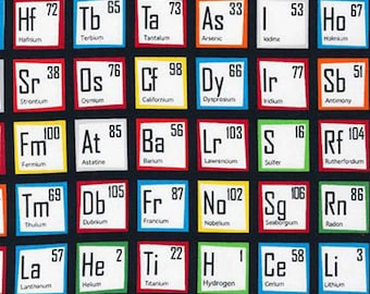 Robert Kaufman fabric PERIODIC TABLE