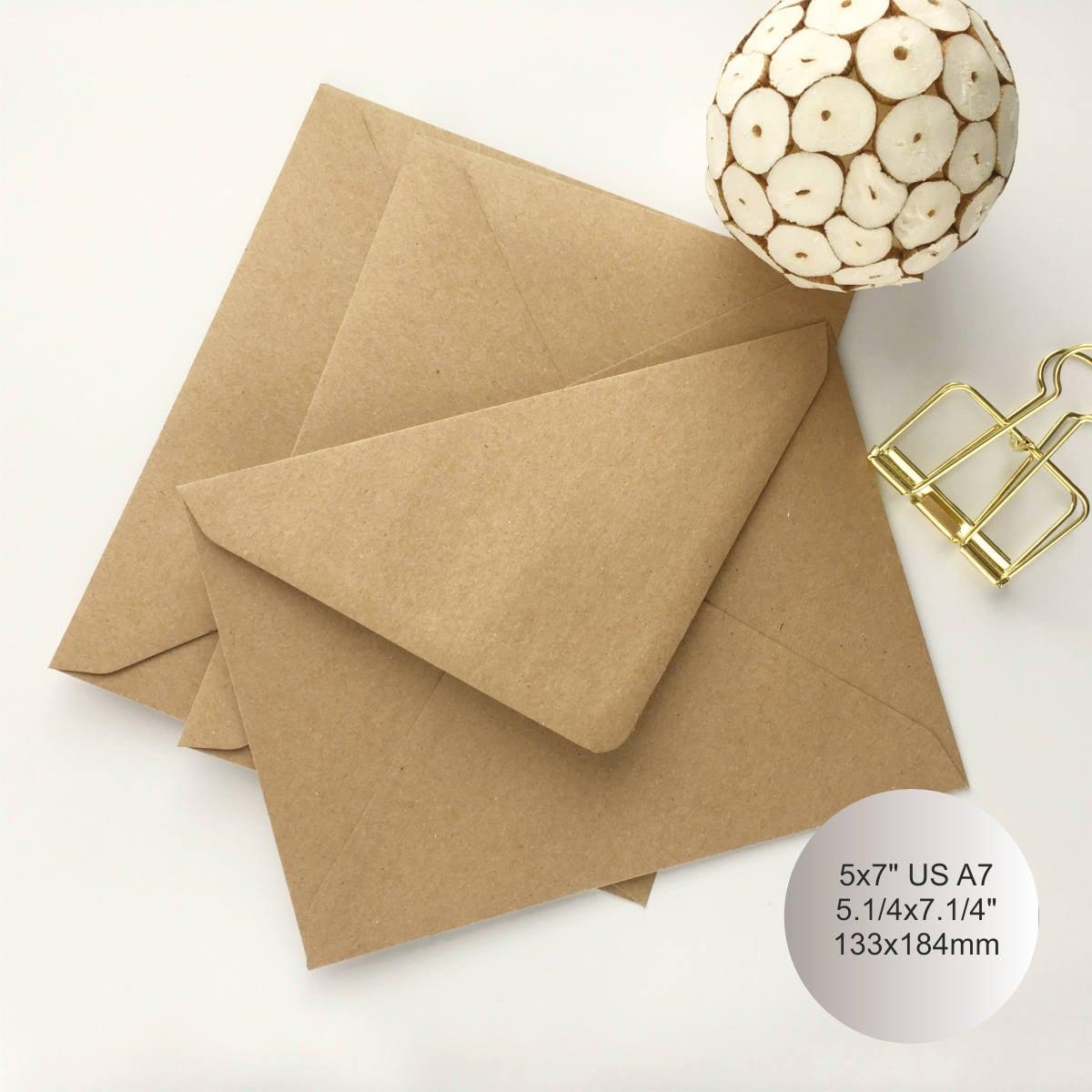 100 5x7 kraft envelopes a7 envelopes envelopes bulk rustic envelopes 2195 kristyandbryce Choice Image