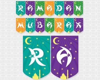 Party Printable DIY Ramadan Mubarak Banner - Instant Download - Ramadan banner, Ramadan party decor, Ramadan decorations