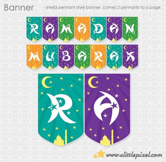 Party Printable Diy Ramadan Mubarak Banner Instant Download