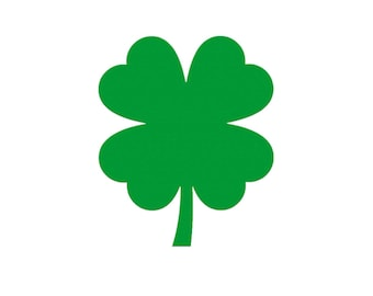 4 Leaf Clover Paper Cut Out St, Patrick's Day Die Cut Party Favors, Clover Shape, Shamrocks, St. Paddy's Day Scrapbook Decorations, Name Tag