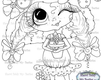 INSTANT DOWNLOAD Digital Digi Stamps Big Eye Big Head Dolls Digi  Img935 By Sherri Baldy
