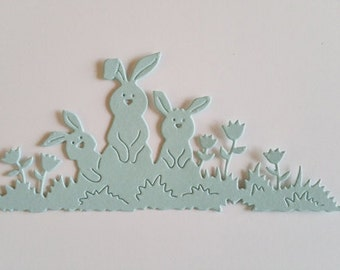 Bunny Trio Border Die Cuts