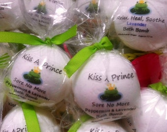 20 Bath Bombs Perfect for Girls Spa Night, Shower gifts, Party favors or just to pamper yourself   Can be personalIzed with custom tags