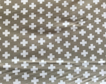 Moda -Sweetwater Project Red - 5681 14 -Sweetwater  Novelty Cross Taupe