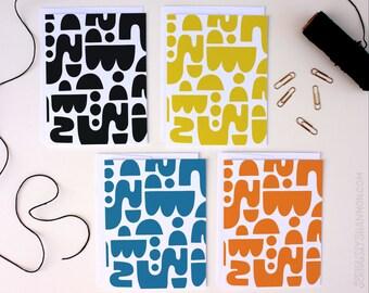 Boxed Stationery Set, Cute Notecard, Set, Stylish Stationery, Blank Notecard Set of 8 A2 Greeting Cards