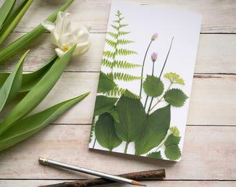 Greenery notebook ~ nature journal ~ garden notebook ~ sketchbook