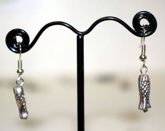 earrings (fish scales)
