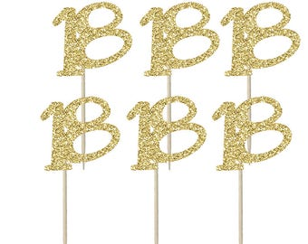 18 Birthday Party Cupcake Toppers, Cake Topper, Cake Decoration