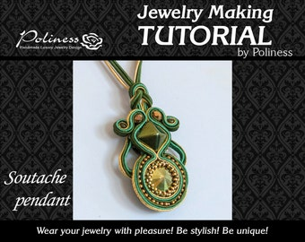 Step by step - Pattern -  Jewellery making -  Tutorial - Soutache pendant - Soutache - Download