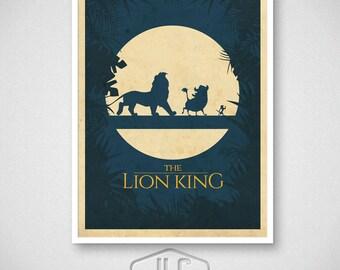 The Lion King, Hakuna Matata Movie Poster, Disney Art Print