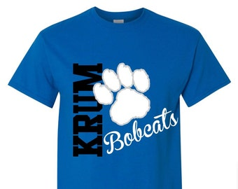 School Spirit Tshirt / Team Spirit Shirt,Game Day Shirt