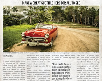 2x1 Page Newspaper Template Adobe InDesign (8.5x11 & 11x17 inch)