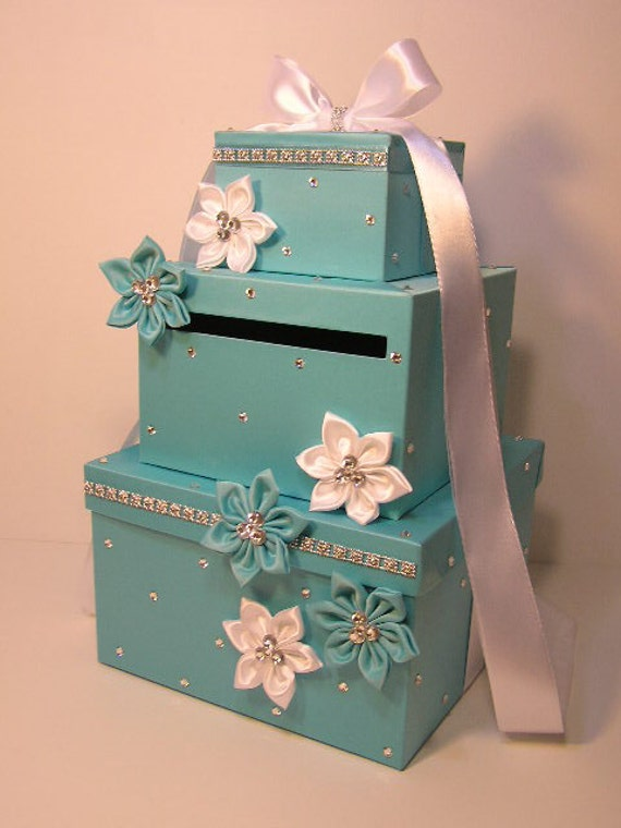 wedding card box blue gift card box money box holder special. Black Bedroom Furniture Sets. Home Design Ideas
