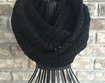 Crocheted Women's Teens Cowl Infinity Scarf Snood Neckwarmer The Monique