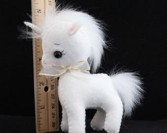 Felt Unicorn Gingermelon pony