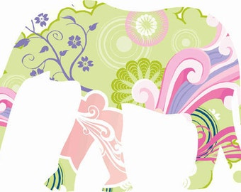 Elephant wall decals, Nursery Wall Decals, Elephant decor, Safari Animal Decal, Pastel color elephant, Girls Room Decor, Nursery elephant