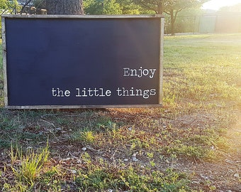 Enjoy the little things   Sign   Farmhouse Sign   Farmhouse Decor   Farmhouse   Rustic   Rustic Decor   Fixer upper   Wood Sign   Wall Art  