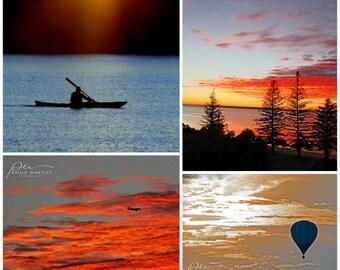 Sunset Print Set 4 Photo Gallery Wall Art