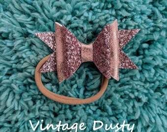 Vintage Dusty Pink Bow