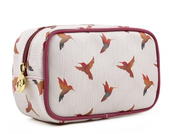 TaylorHe Make-up Bag Cosmetic Case Toiletry Bag Pencil Case Zipped Top Birds In Flight.