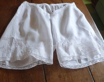 French knickers (bloomers)  with Valenciennes lace.