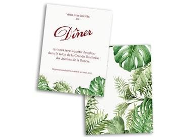10 x Tropical wedding invitation cards