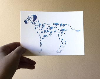 """Postcard - """"little dots and beasts, the Dalmatian"""""""