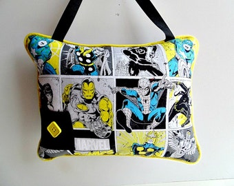 Personalized Marvel Comic Tooth Fairy Pillow, Thor, Hulk,  Captain America Decor, Iron Man, Spiderman Pillow