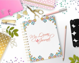 Quran Journal - Quran Planner - Quran Notebook - Planner notebook, Planner Journal, Islamic Planner, Islamic Journal, Islamic NoteBook