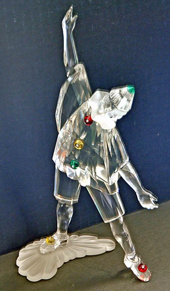 Vintage Collectible SWAROVSKI PIERROT Crystal MASQUERADE Clown Figurine 230586 No Box Excellent Condition