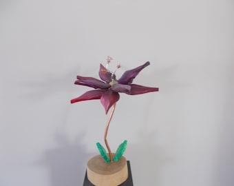 Amethyst Flower Sculpture