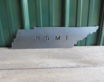 Tennessee state outline - metal art