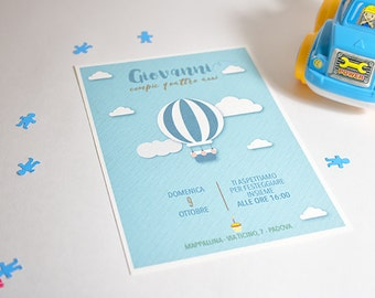 "Invitation card for ""Little Man"" birthday party"