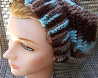 Blue and Brown Slouch Hat