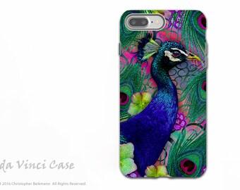 Colorful Peacock Floral Apple iPhone 7 PLUS - 8 PLUS Tough Case - Dual Layer Protection - Nemali Dreams