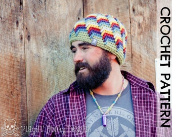 CROCHET HAT PATTERN - Offshore Beanie - Adult Size