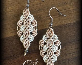 Rhomboid bicolor Custom Earrings