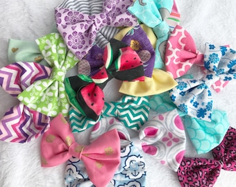 Hair bow grab bag. Hair bows. Hair clips. Grab bag. Surprise. Hair accessories.