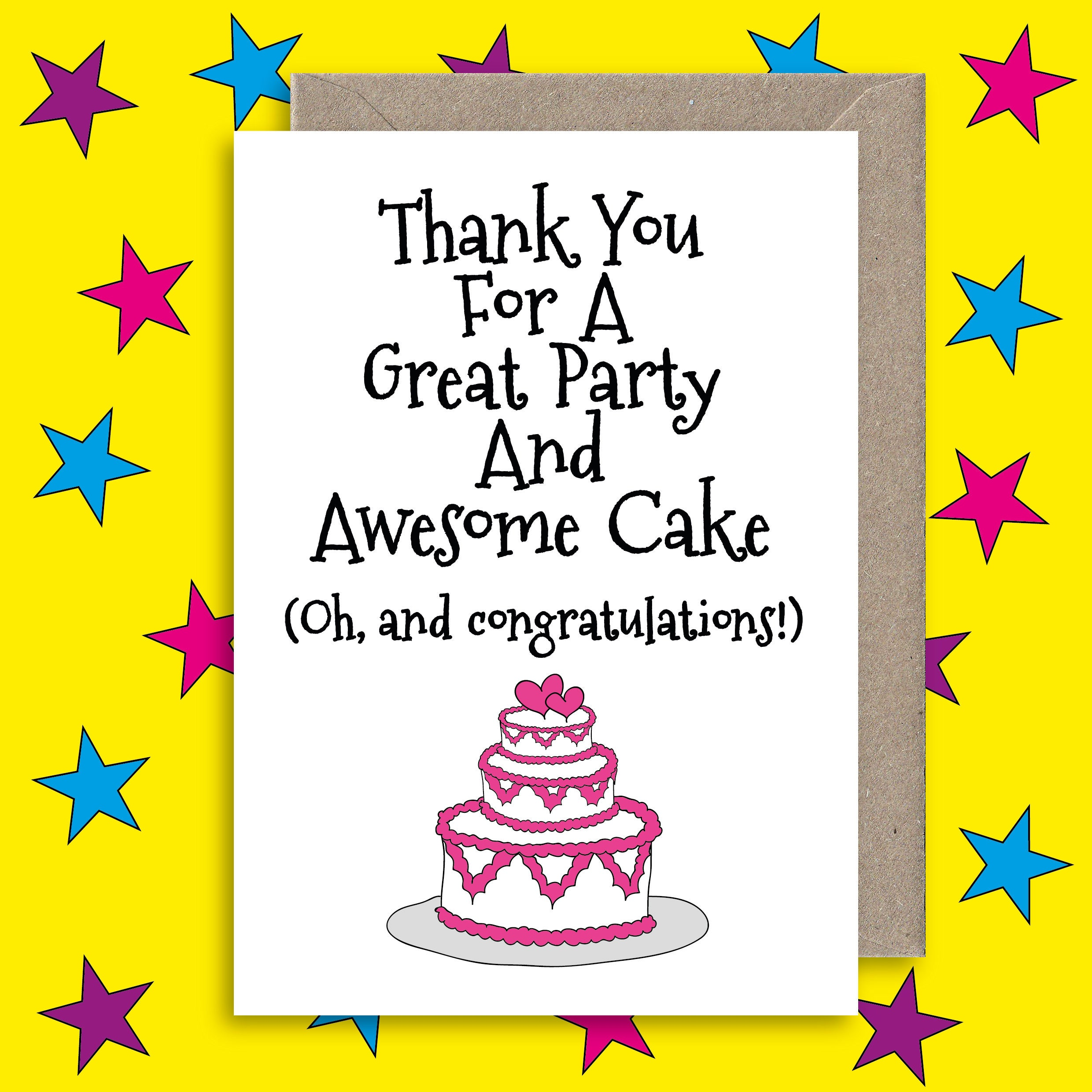 Funny wedding card thank you for a great party and awesome zoom kristyandbryce Choice Image