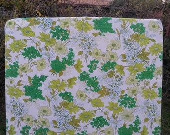 Vintage Green Floral Fitted Cot Sheet, Cot Sheets, Fitted Cot Sheets, Crib Sheet